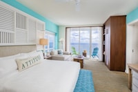 Two Bedroom Ocean Front Sunrise Suite 1 King bed and 2 Queen Beds