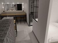 Studio 2 suites, 2 bathrooms
